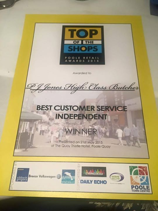 Thank you Top Of The shops for our award…