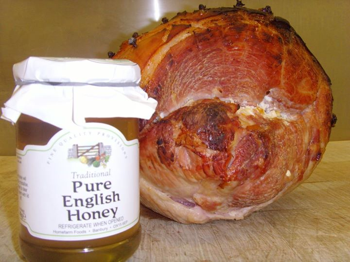 Cooked Fresh Today, Honey Roast Ham.