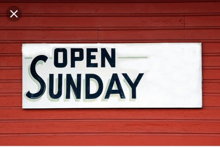Don't forget, We open today.. Opening ho…